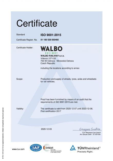 EN ISO 9001:2015 EN