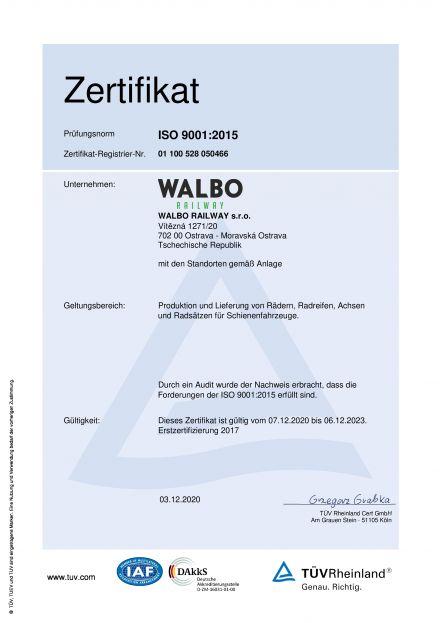 EN ISO 9001: 2015 EN